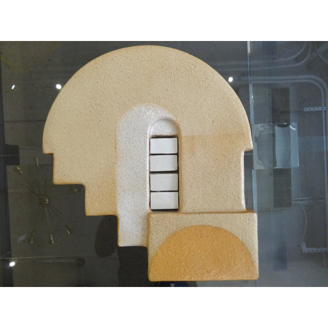 Image of Vintage Mid-Century Modern Ceramic Wall Plaque