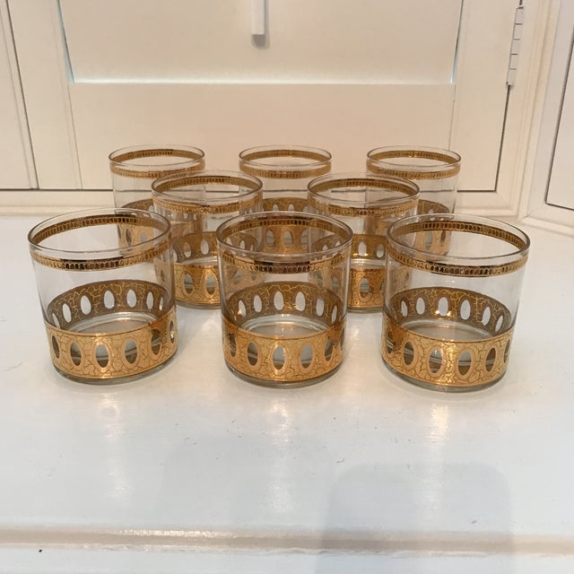 Culver Antigua Low Ball Glasses - Set of 8 - Image 2 of 10