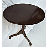 Image of Oval Auxiliary Tilt Top Table