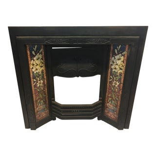 English Art Nouveau Fireplace Insert