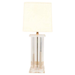 Hollywood Regency Lucite Table Lamp