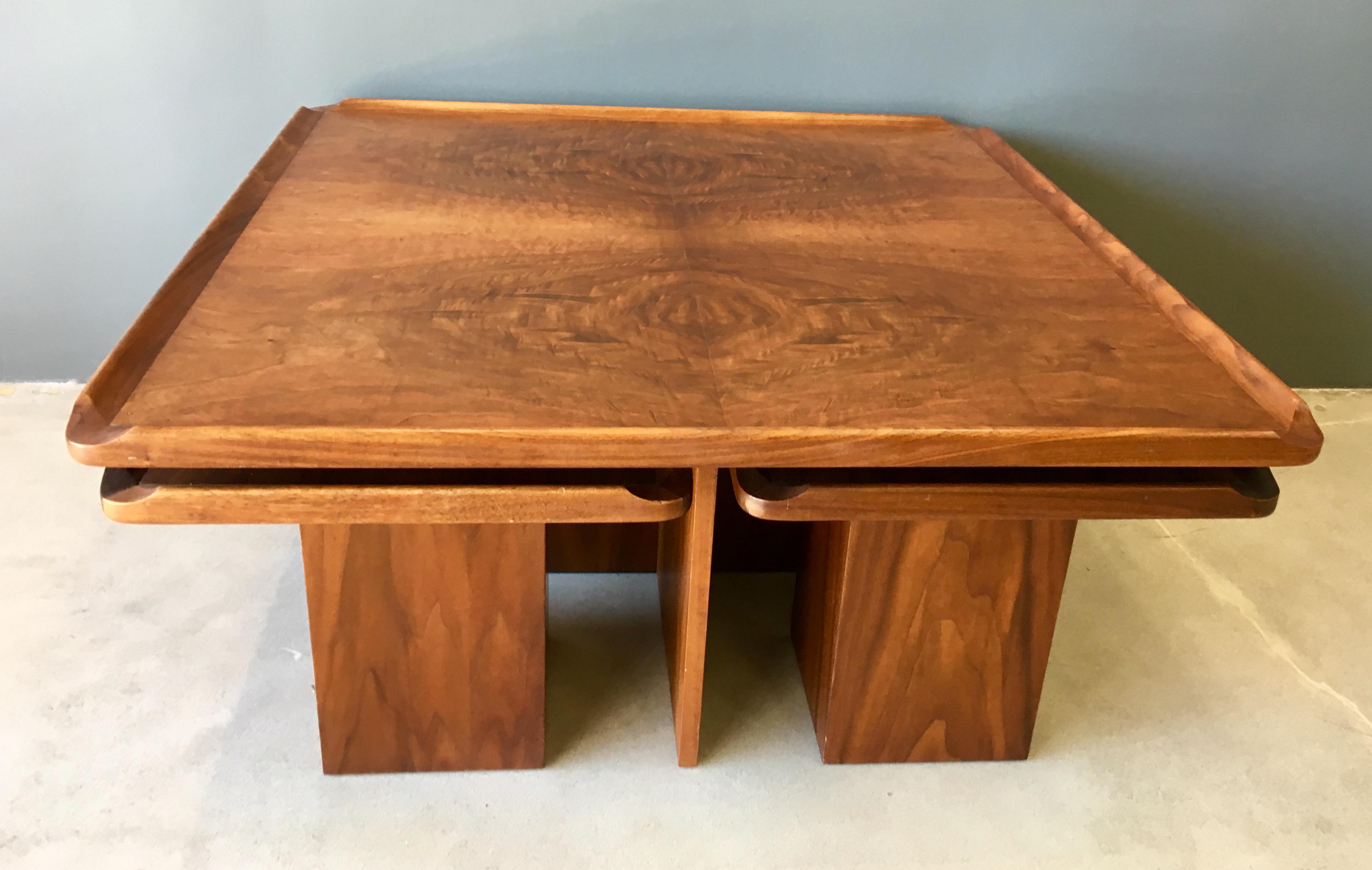 Brown Saltman Mid Century Coffee U0026 Nesting Tables   5 Pieces   Image 8 Of