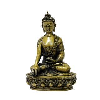 Chinese Fine Bronze Metal Sitting Meditation Buddha Statue