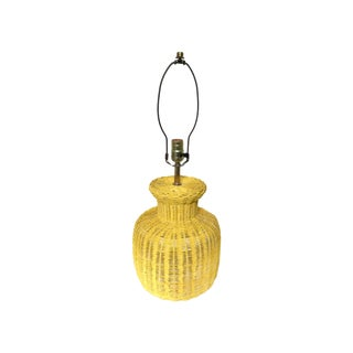 Wicker Vintage Ginger Lamp