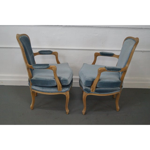 Rowe Louis XV Style Fauteuils Arm Chairs - Pair - Image 3 of 10