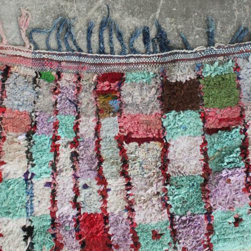 Vintage Moroccan Boucherouite Rug 4 7 215 6 6 Chairish