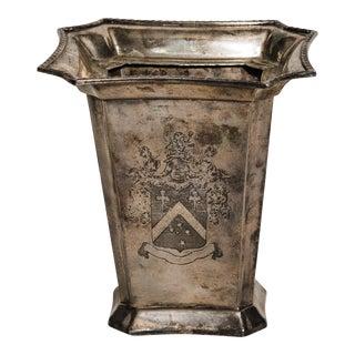 Silver Plate Tea Caddy/Vase