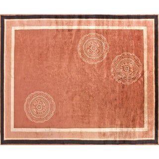Chinese Coral Rug- 8′ × 9′10″