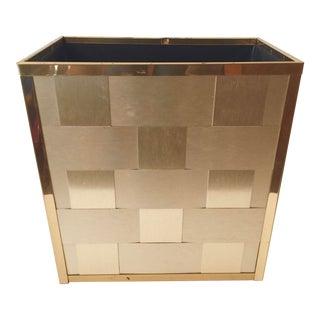 Geometric Brass Paper Basket