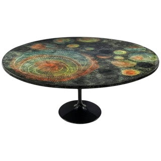 """Large Round """"Madrepore"""" Dining Table by Piero Fornasetti, Early and Rare, 1950s"""
