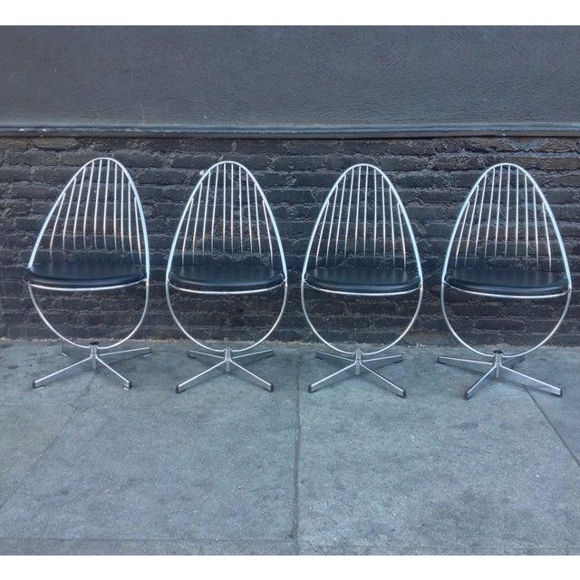 Dahlens Dalum Swedish Chrome Chairs - Set of 4 - Image 2 of 5