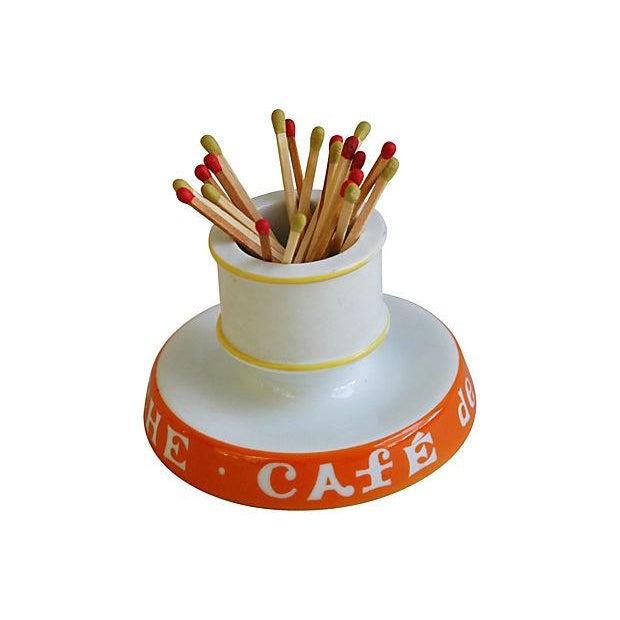Vintage French Café Rive Gauche Match Holder - Image 6 of 6