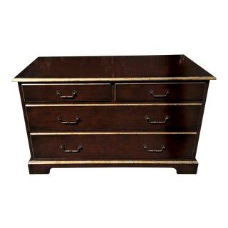 John Hall Walnut Commode Chest of Drawers