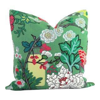 """20"""" x 20"""" Jade Schumacher Chiang Mai Dragon Pillow Cover"""