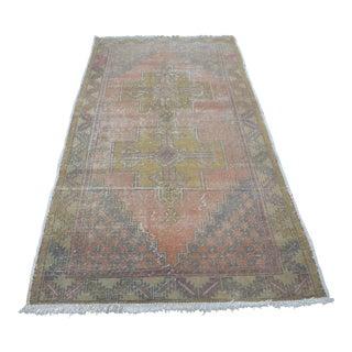 Turkish Oushak Carpet - 4′4″ × 8′5″