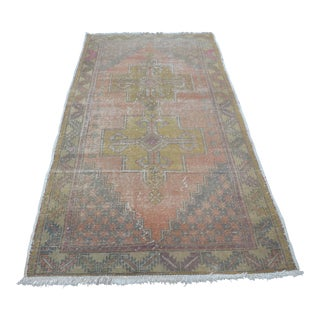 Turkish Oushak Carpet - 4′4″ × 8′5″