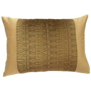 Gold Embroidered Pillow Cover
