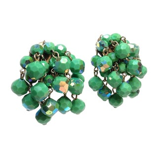 Cascading Faceted Bead Earrings