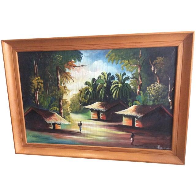 Image of Vintage Plantation Painting, 1962