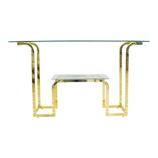 Brass & Glass Entry Table