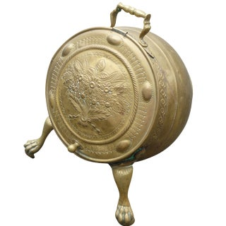 Antique Brass Coal Scuttle