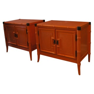 Palm Beach Faux Bamboo Side Tables
