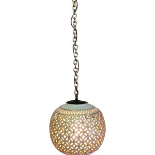 Blanc De Chine Hanging Globe Pendant Light