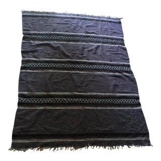 Tribal Gray Woven Wool Rug