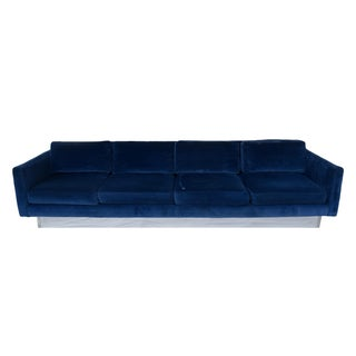Milo Baughman Plinth Base Sofa