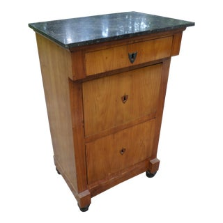 Biedermeier Marble Top Birch Commode