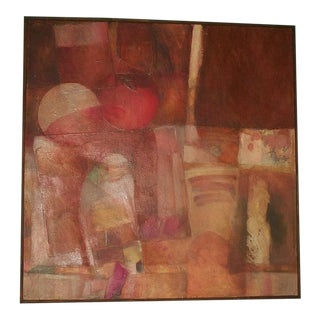 Theodoros Stamos Abstract Mixed Media Painting