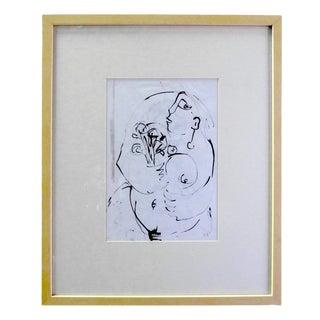 Ink On Paper Drawing by Flore Lefebvre Des Noettes