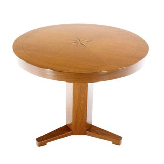 Round Center or Breakfast Table with Modern Inlay Design