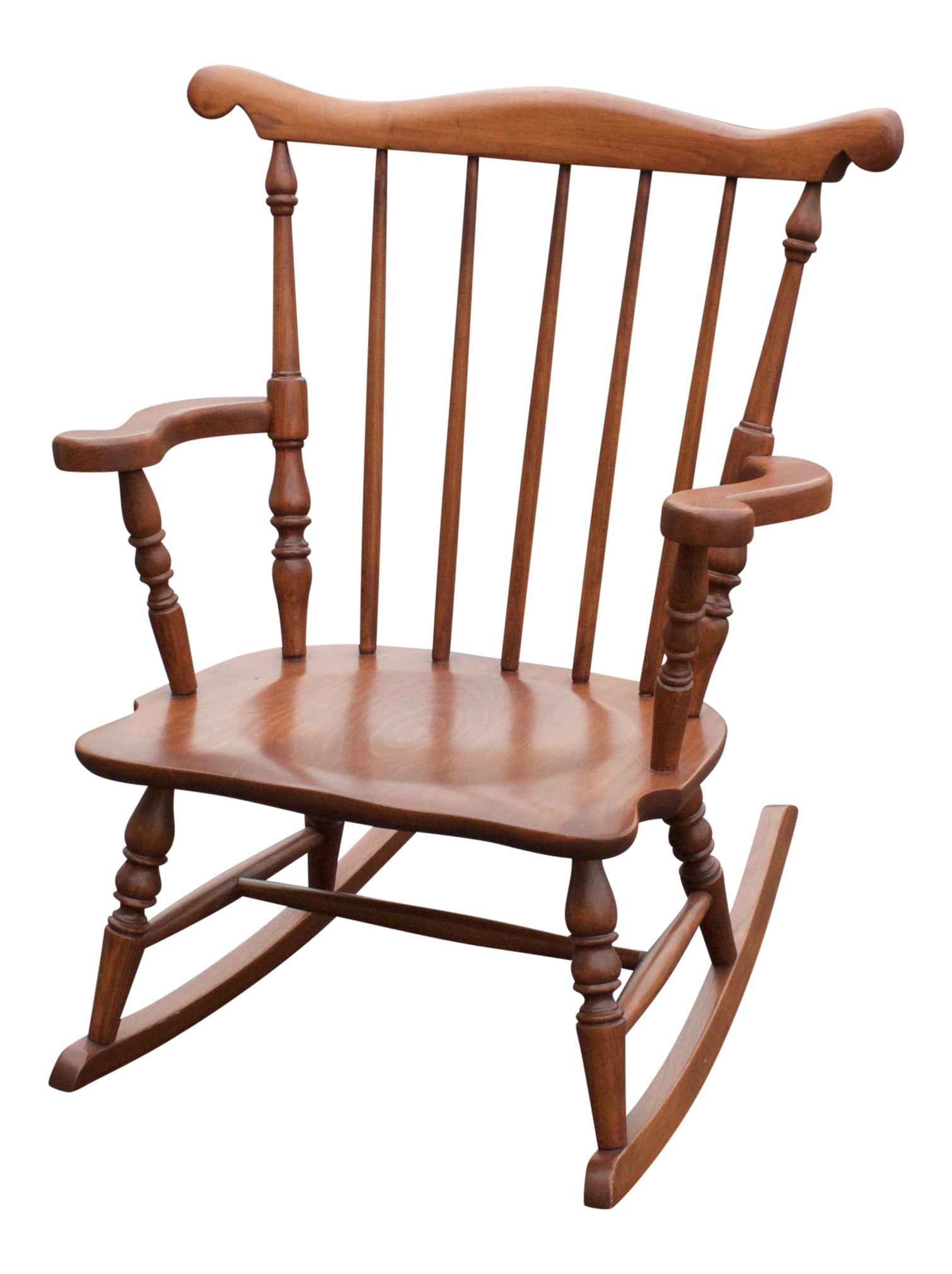 vintage child size colonial wood rocking chair