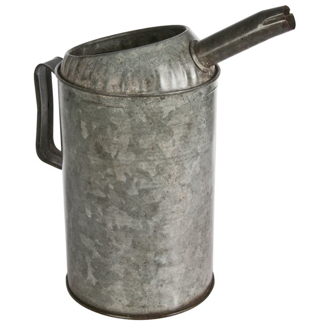 Vintage Galvanized Oil Pitcher - Image 3 of 3