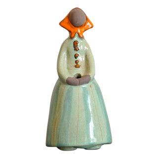 Mid-Century JIE Gantofta Flower Girl Figurine