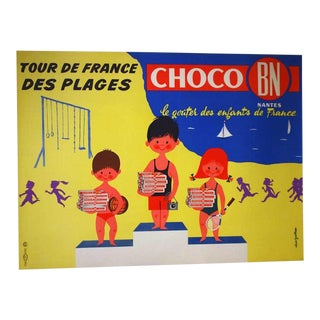 "Original French ""Choco Bn"" Advertising Poster"