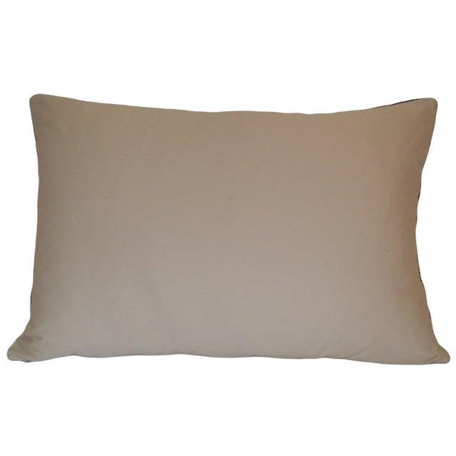 Red & Cream Silk Velvet Pillow - Image 2 of 2
