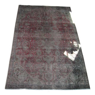 Grey Overdyed Vintage Area Rug - 6′ × 9′2″
