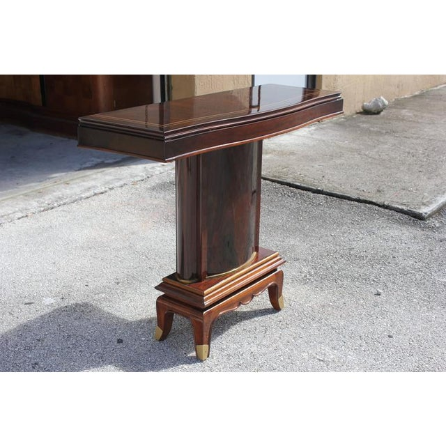 Jules Leleu French Art Deco Palisander Console Tables - A Pair - Image 2 of 10