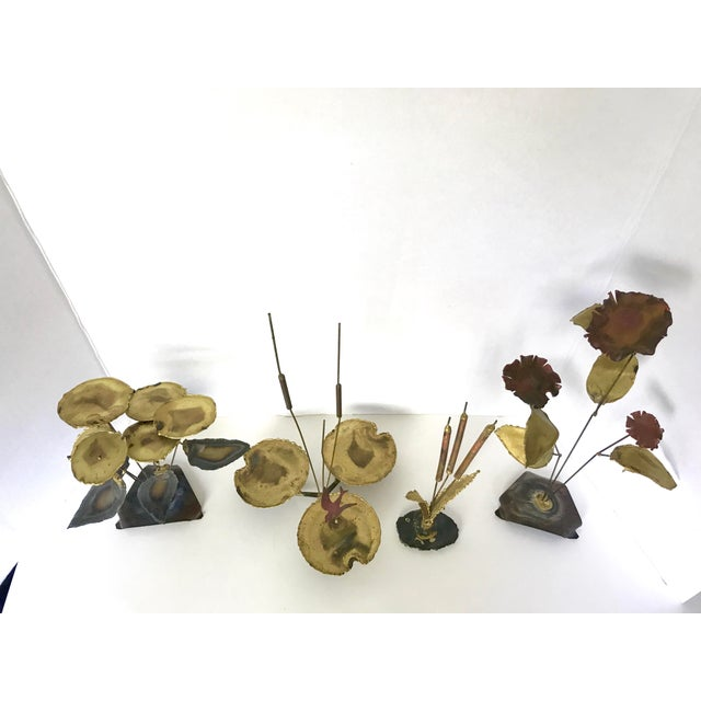 Image of Vintage Botanical Brass Sculptures - Set of 4