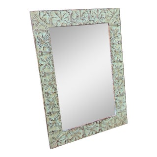 Antique Green Ceiling Tile Mirror