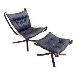 Sigurd Resell for Westnofa Falcon Chair & Ottoman