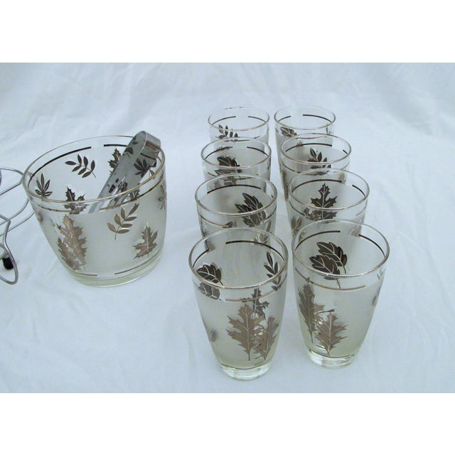 1960's Glasses Ice Bucket And Carrier Set - Image 4 of 5