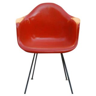 Eames Shell Chair in Orange Red