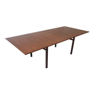1950s Vintage Edward Wormley for Dunbar Walnut Extension Dining Table