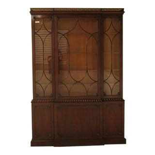Kittinger Colonial Williamsburg Model CW-38 Mahogany Breakfront Bookcase