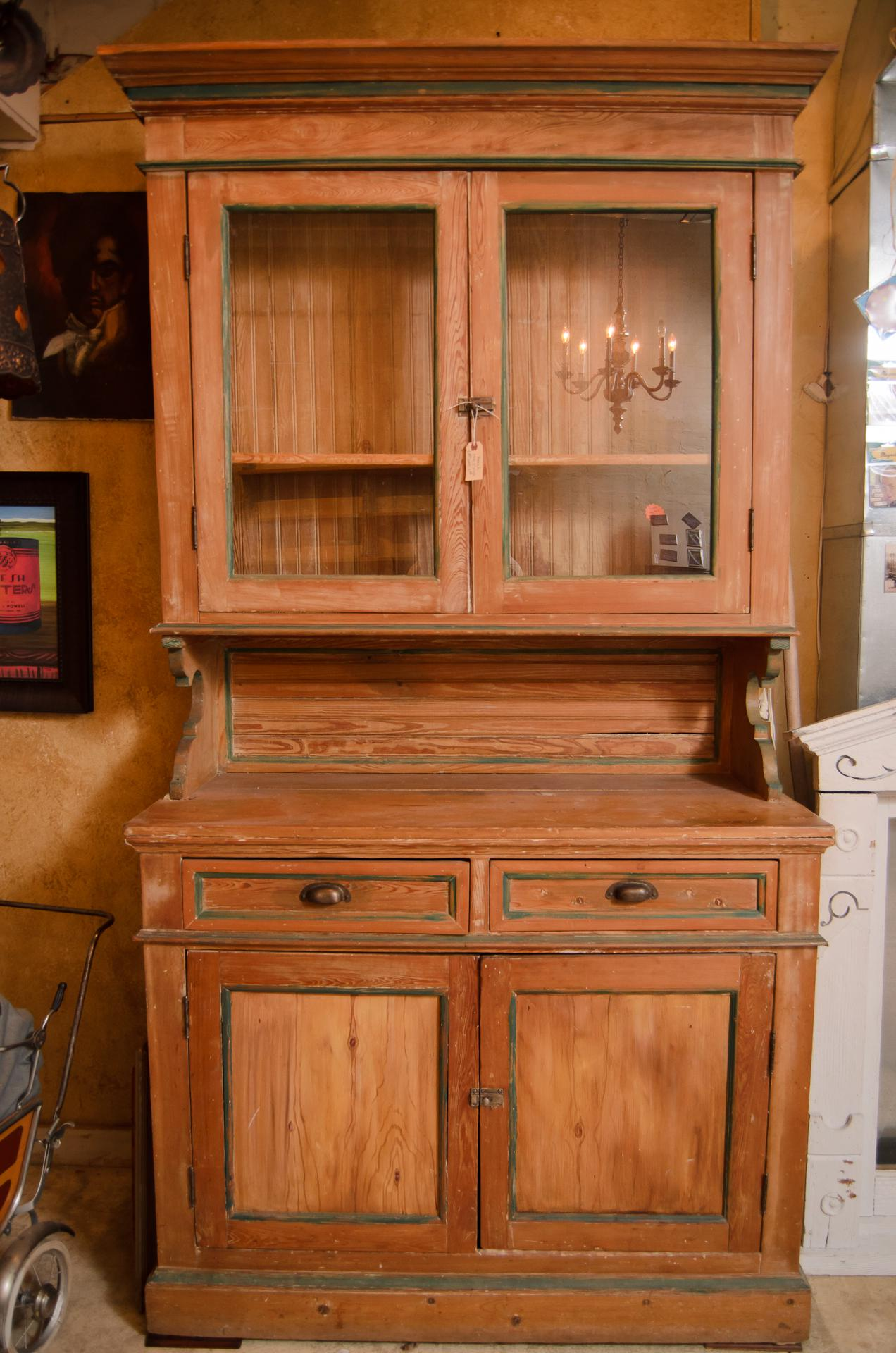 Antique Irish Pine Cabinet   Image 2 Of 9
