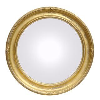 Antique Convex Mirror with Concave Frame