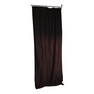Restoration Hardware Thai Charcoal Silk Drapery